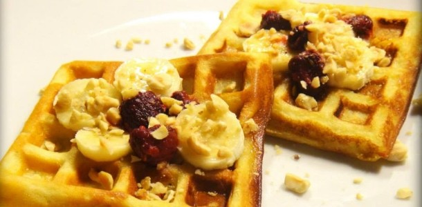 Healthy naturally gluten free waffles